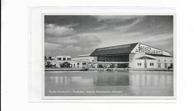 Colombia Barranquilla SCADTA seaplane airport postcard Ford Trimotor S.38