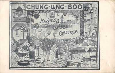 MAGICIAN WILLIAM ELLSWORTH ROBINSON KNOWN AS CHUNG-LING-SOO, ADV PC dated 1907