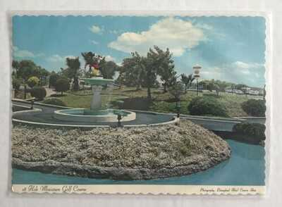 Vintage Disneyland Hotel Postcard 18 Hole Miniature Golf Course Magic Kingdom