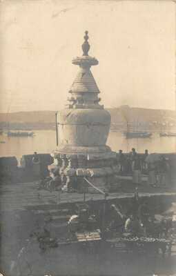 CHINA WUHAN WUCHANG MONUMENT RIVER YANGTZE & STREET VENDORS USED1907 PHOTO CARD
