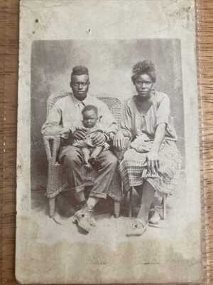 Real Photo Post Card RPPC African American Man Winston Salem NC Family