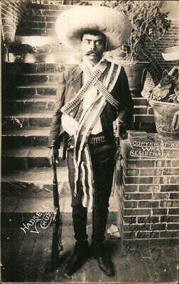 Mexico RPPC Hadsell Emiliano Zapata Salazar-Mexican Revolution Wray Postcard