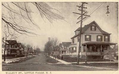 1910 Era Little Falls NJ Walnut St. Publ by The Ess an Ess Photo Co. New York NY