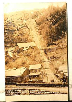 CARBONADO WA REAL PHOTO POSTCARD INCLINE MINES RAILROAD 1910 SEATTLE TACOMA RPPC