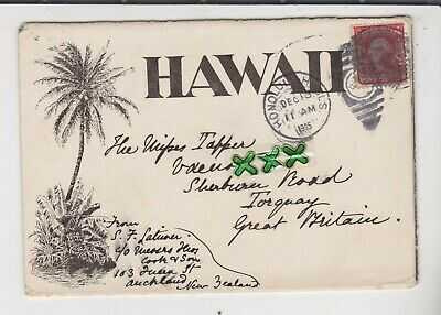 LETTER CARD? - HAWAII - POSTED HONOLULU 1905 - INCL THANKSGIVING DAY AUTOMOBILES