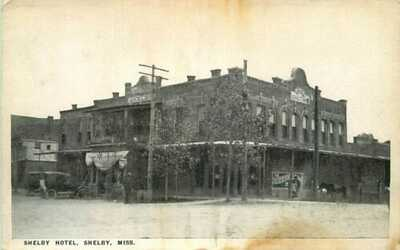 Postcard Shelby Hotel, Shelby, Mississippi - circa 1920