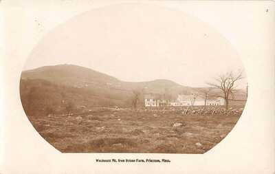 PRINCETON, MA, MT WACHUSETT FROM DELANO FARM, MAKE REAL PHOTO PC used 1920