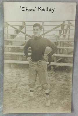 "early 1900s RPPC Postcard Victor ""Choc"" Kelley Texas A&M Football QB REAL PHOTO"