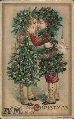 Christmas Children 1911 Samuel L. Schmucker A Merry Christmas Winsch Postcard