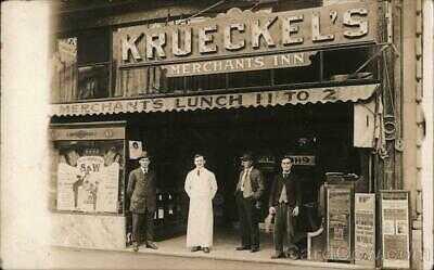 1915 RPPC Oakland,CA Krueckel's Merchants Inn Alameda County California Postcard
