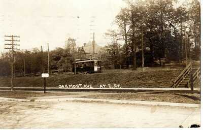 1912 PITTSBURGH PA - RPPC - Trolley Oakmont Ave at C. St. - Real Photo