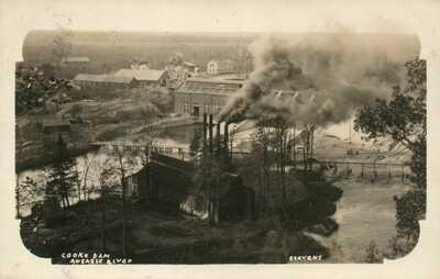 MICH RPPC Cooke Dam Au Sable River Oscoda Michigan Real Photo Postcard