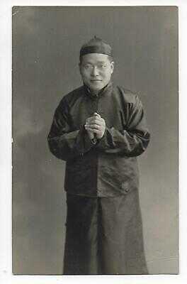 Marcus Cheng Swedish Covenant Missionary Society China 1907 Photo Harnesk RPPC