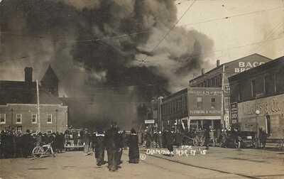 RPPC Champaign, Illinois - Fire - March 17, 1915