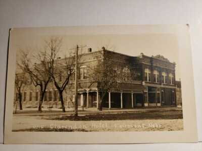 Fairmont, Nebraska, CLARENDON HOTEL, 1910 RPPC Postcard