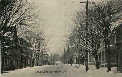 Stoystown,PA Midwinter Street Scene Somerset County Pennsylvania Geo. S. Lohr