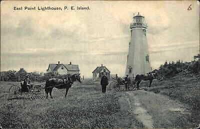 East Point Lighthouse Prince Edward Island PEI c1910 Postcard