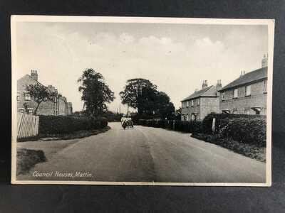 Council houses, Martin, Near Fordingbridge, Hampshire
