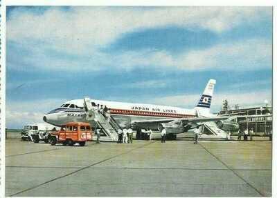 Japan Tokyo Haneda airport   postcard JAL   Convair CV880 - 2
