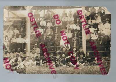 Lennox SOUTH DAKOTA RPPC 1908 BLACK BASEBALL TEAM vs Locals NEGRO LEAGUE Wow!!