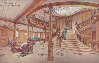 RMS TITANIC SISTER SHIP RMS OLYMPIC White Star Line Maiden Voyage June 14 1911 5