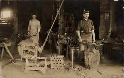 Antigo WI Cancel Blacksmith Shop Interior Labor Occupation GREAT DETRAIL RPPC