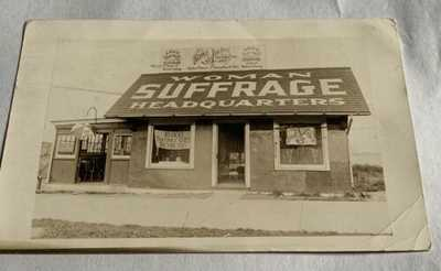 Vintage Real Photo Postcard - Staten Island Women's Suffrage Headquarters