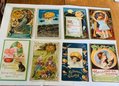 22 Vintage Halloween Postcards - All As Is - Clapsaddle , Etc