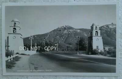 C.1930'S RPPC...EARLY VIEW,STREET SCENE,ENTRANCE TO RIVERSIDE CALIFORNIA