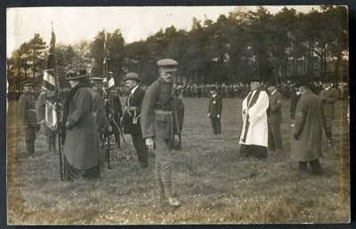 WEST BELFAST REGIMENT U.V.F. Presentation of Colours, Glencairn, Belfast 1914 RP