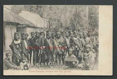 Nias Rulers Retinue Costume Arms Kübler Indonesia ca 1899