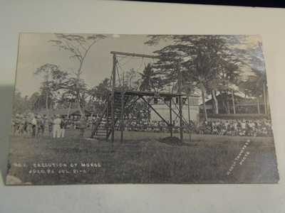 Moro Execution by Hanging Jolo Philippines July 21, 1911, Set of 8;  1/12/20