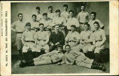 RARE 1905 Baseball Team Postcard 1894 Baltimore Orioles National League Champs