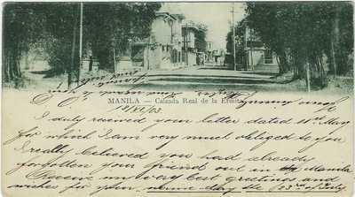 Philippines 1903 Private Mailing Card Mamila Calzada Real de la Ermita used
