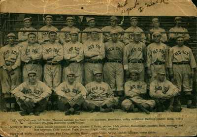 RARE 1912 Baseball Team Postcard Boston Red Sox World Series Champs Tris Speaker