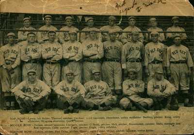 RARE 1912 Baseball Team Postcard Boston Red Sox World Series Champs Tris Speaker