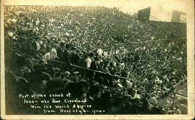 1920 RPPC Baseball Postcard Crowd at League Park Cleveland Indians WORLD SERIES!