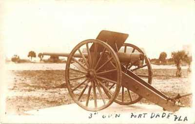 Fort Dade Florida Cannon Real Photo Vintage Postcard AA10443