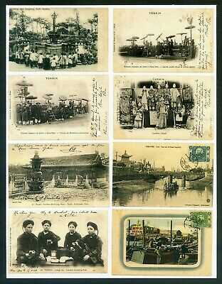 *A coll of postcard mostly missing stamps incl reg from China to overseas, 17pcs