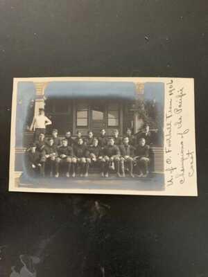 Vintage RPPC University Of Oregon Photo Postcard 1906 Football Team Champions