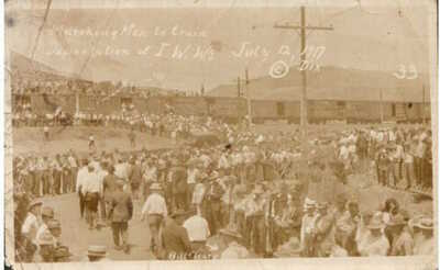 1917 BISBEE JEROME AZ Deportation IWWs Mine Workers Dix RPPC REAL PHOTO postcard