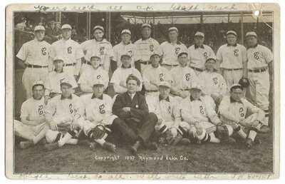 """Baseball: 1907 Cleveland """"Naps""""; Nap Lajoie (HOF)"""