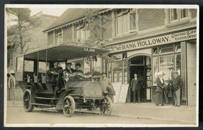 CANFORD CLIFFS Motor Omnibus Co. CHARABANC in Haven Road, Poole. 1911 RP