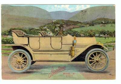 Antique Dealer Postcard Jackson Auto Co. Model 38 $1650 Jackson Michigan 1911