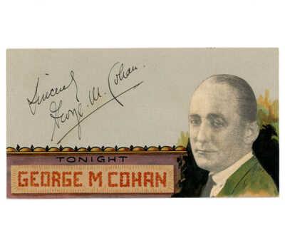GEORGE M. COHAN SIGNED VINTAGE 1930 BREHM HAND PAINTED ART POSTCARD AUTOGRAPHED