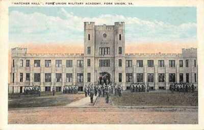 Fork Union Virginia Military Academy Hatcher Hall W.E. Burgess Postcard AA27946
