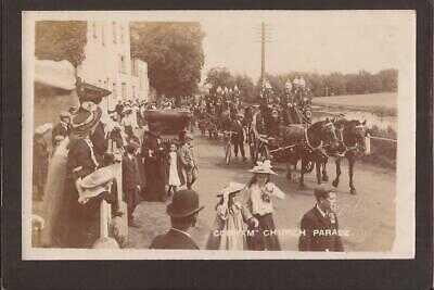 Cobham.  Church Parade. Fire Brigade. Wests RP.