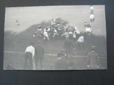Old 1911 BIG GAME - Cal Stanford FOOTBALL - Rugby Scrum - RPPC Photo POSTCARD