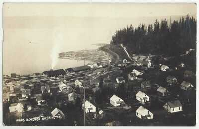 1910 Monohon, Washington - REAL PHOTO Town View - Vintage Postcard