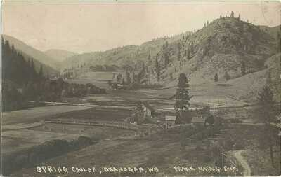 Okanogan, WA Washington 1909 RPPC Postcard, Spring Coulee by Frank Matsura